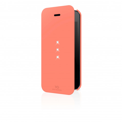 WD WHITE-DIAMONDS Crystal Booklet Coral iPhone5/5s/SE