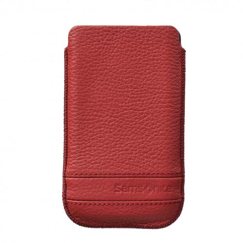 SAMSONITE CLASSIC Mobilväska Läder L Röd till tex S2