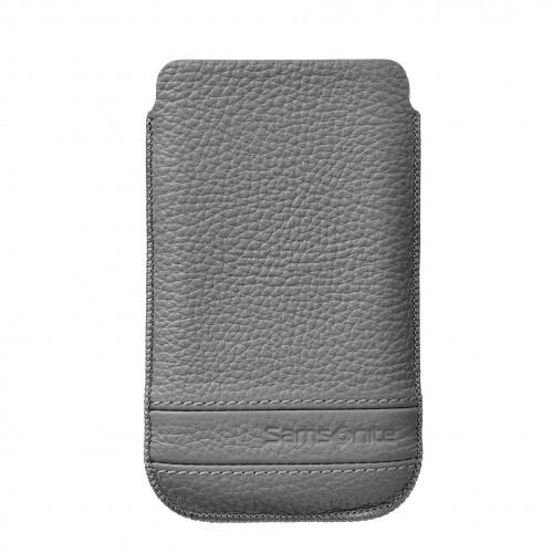 SAMSONITE CLASSIC Mobilväska Läder XL Grå till tex S3/S4