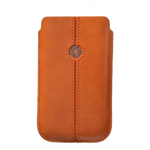SAMSONITE DEZIR Mobilväska Läder Orange till tex S3/S4