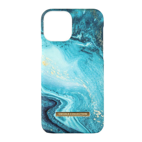 ONSALA COLLECTION Mobilskal Soft Blue Sea Marble iPhone 11 Pro