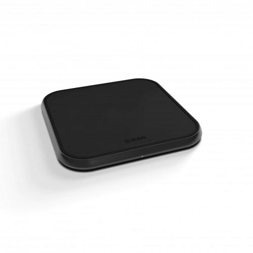 ZENS Single Alu. Laddare QI Trådlös 220V-sladd 10W Svart (Apple QC 7,5W)