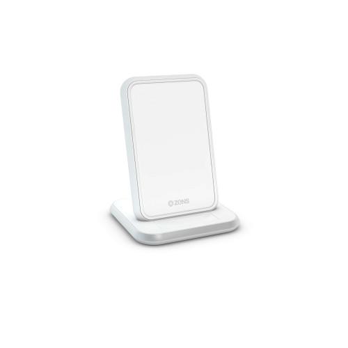 ZENS Bordsladdare QI Trådlös 220V-sladd 10W Vit (Apple QC 7,5W)