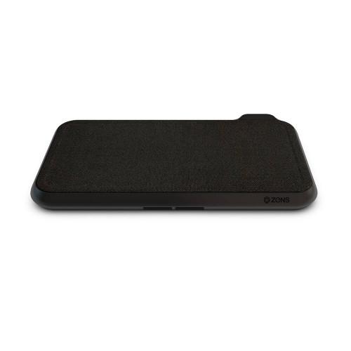 ZENS Dual Bordsladdare  QI Liberty 16 coils 2x15W Fabric Surface (Apple & Samsung QC)