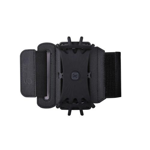 GEAR Sportarmband Premium Universal För Över och Underarm Vridbar hållare Svart
