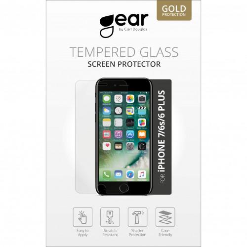 GEAR Härdat Glas 2.5D iPhone 6/7/8 Plus
