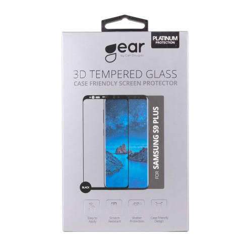 GEAR Härdat Glas 3D Full Cover Svart Samsung S9 Plus inkl. Monteringsram