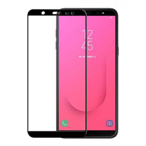 GEAR Härdat Glas 3D Full Cover Svart Samsung J8 2018