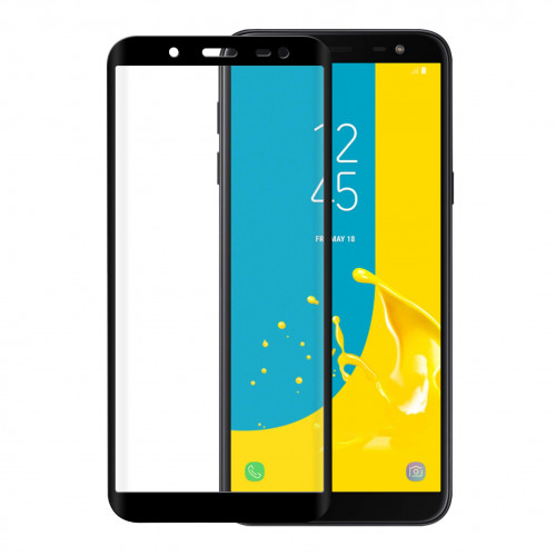 GEAR Härdat Glas 3D Full Cover Svart Samsung J6 2018