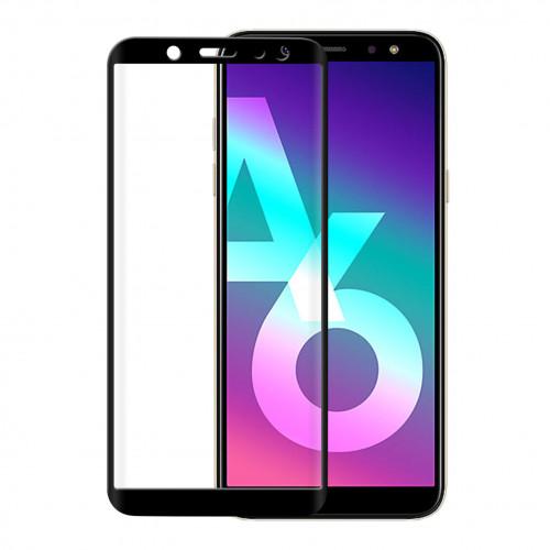 GEAR Härdat Glas 3D Full Cover Svart Samsung A6+