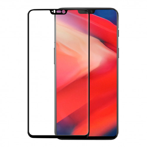 GEAR Härdat Glas 3D Full Cover Svart OnePlus 6