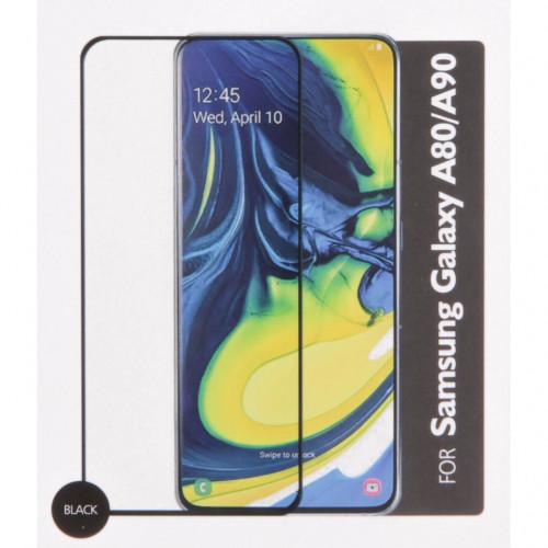 GEAR Härdat Glas 3D Full Cover Black Samsung A80 / A90 2019