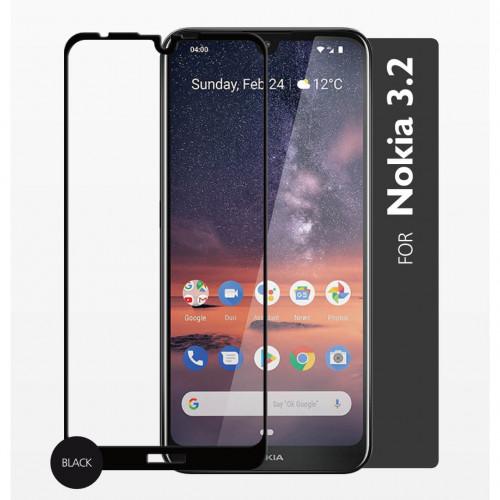 GEAR Härdat Glas 2,5D Full Cover Nokia 3.2
