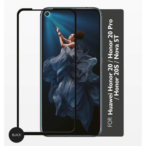 GEAR Härdat Glas 2,5D Full Cover Huawei Honor 20/20s/20pro / Nova 5T 2019