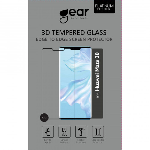 GEAR Härdat Glas 3D Full Cover Black Huawei mate 30