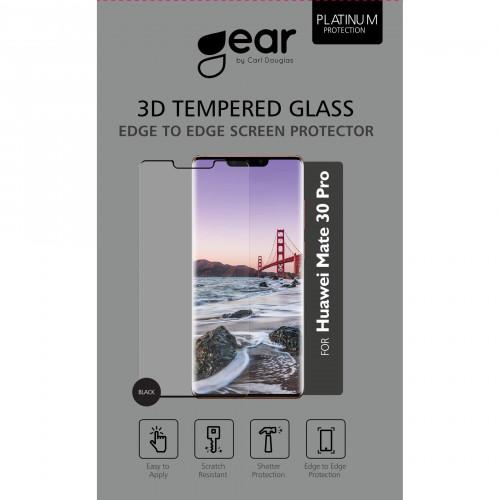 GEAR Härdat Glas 3D Full Cover Black Huawei Mate 30 Lite