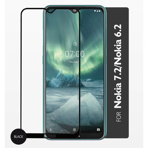 GEAR Härdat Glas 2,5D Full Cover Nokia 7.2