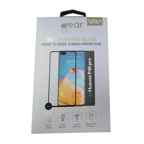 GEAR Härdat Glas 2,5D Full Cover Huawei P40 Pro