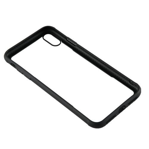 """GEAR Mobilskal med Tempererat Glas Svart iPhone Xs Max 6,5"""""""