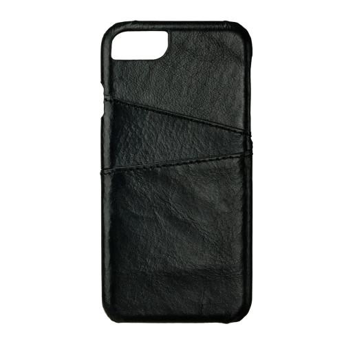 ONSALA COLLECTION Mobilskal Skinn Svart med Kortfack iPhone 6/7/8/SE