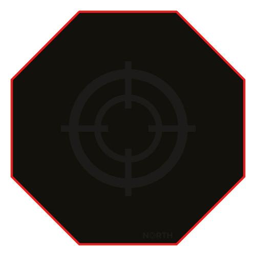 NORTH Golvmatta Pro Gaming Röd/Svart 100x100cm