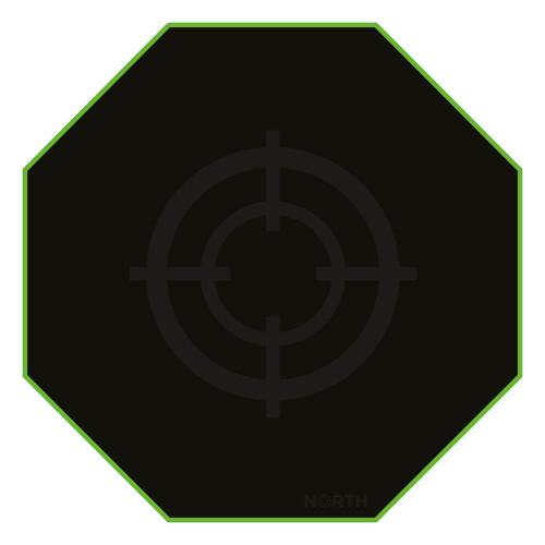 NORTH Golvmatta Pro Gaming Grön/Svart 100x100cm
