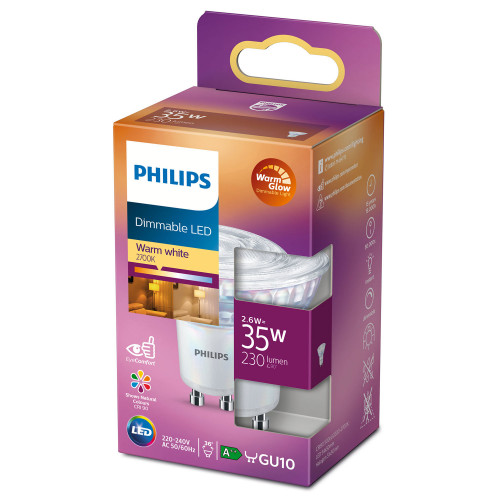 Philips LED GU10 Spot 35W Dimbar WarmG