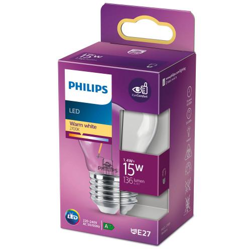 Philips LED E27 Klot 15W Klar Dimbar 1