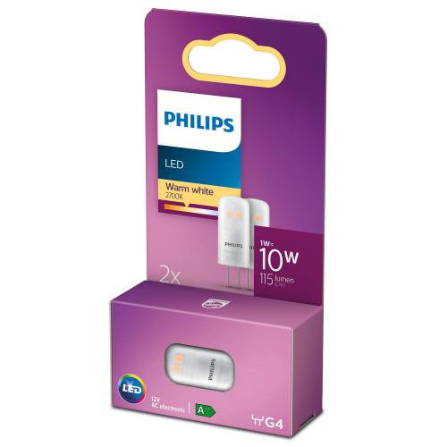 Philips 2-pack LED G4 Kapsel 10V 12W 1