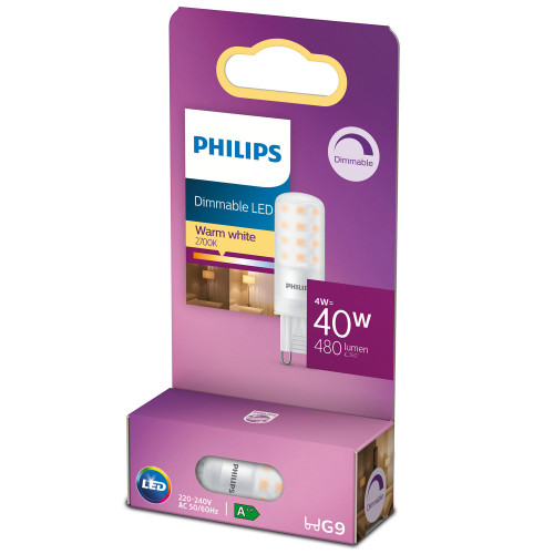 Philips LED G9 Kapsel 40W Dimbar 480lm