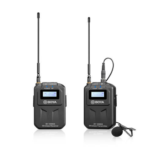 BOYA Mikrofon Lavalier Trådlös UHF BY-WM6S 3.5mm & XLR