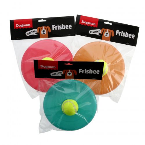 DOGMAN Leksak Frisbee med boll