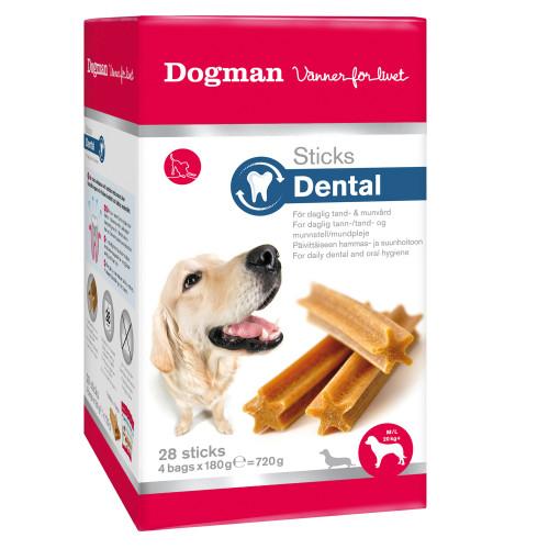 DOGMAN Sticks Dental box 28p