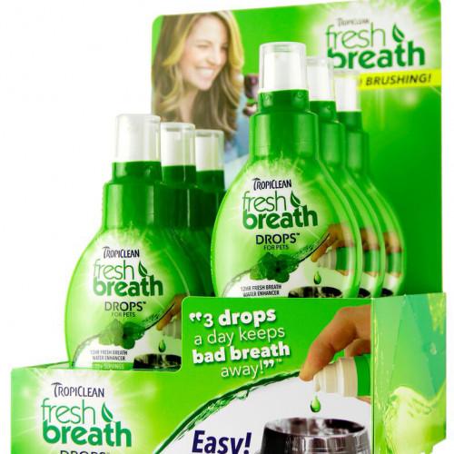 TROPICLEAN Fresh breath drops Display