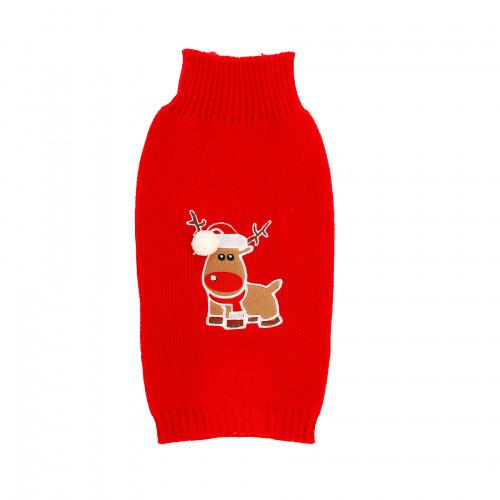 DOGMAN Stickad tröja Julmotiv Ren