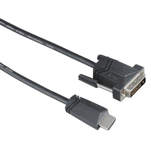 HAMA Kabel HDMI-DVI-D Svart 3m