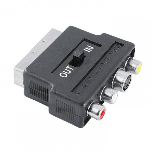 HAMA Adapter 3xRCA Och S-Video Scart Hane-Hona Svart