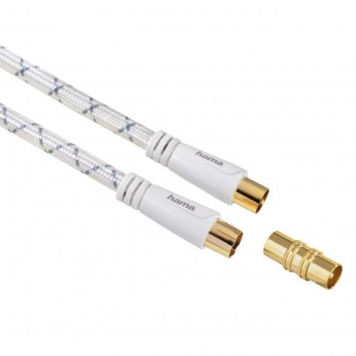 HAMA Kabel Antenn 120dB Vit 3m