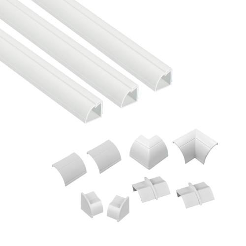 D-LINE Kabelkanal Kit 22x22mm 3x Kabelkanal/Tillbehör 1.0m