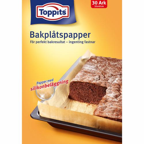 Toppits Bakplåtspapper Ark 33X45cm 30a