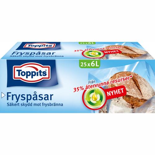 Toppits Fryspåsar 6L 25st (Obs 9st DFP