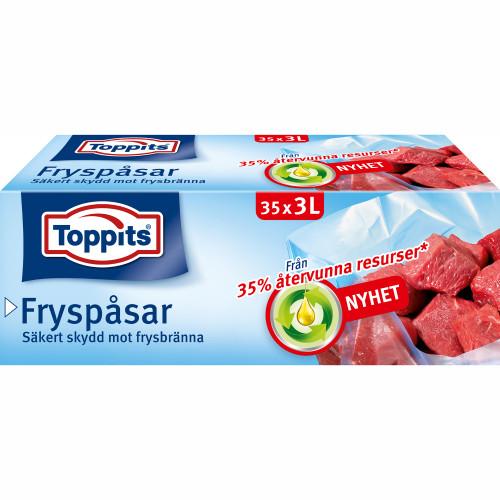 Toppits Fryspåsar 3L 35st (Obs 9st DFP