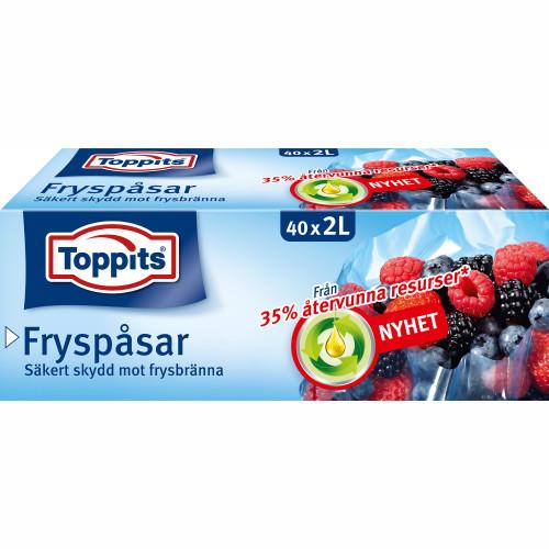 Toppits Fryspåsar 2L 40st (Obs 9st DFP