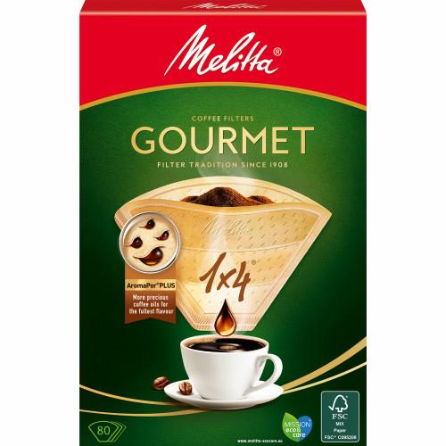 Melitta Kaffefilter Gourmet 1X4 Oblekt x8