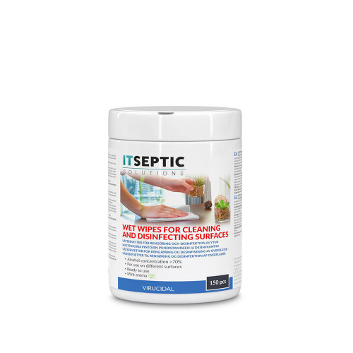 ITSEPTIC Ytdesinfektion Våtservetter Stor >70% Alkohol 12x24cm 150 st.