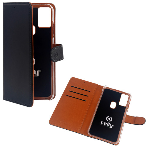 Celly Wallet Case Galaxy A21s Svart