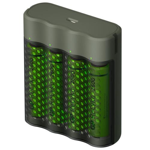 GP ReCyko M451 Laddare USB + 4xAA