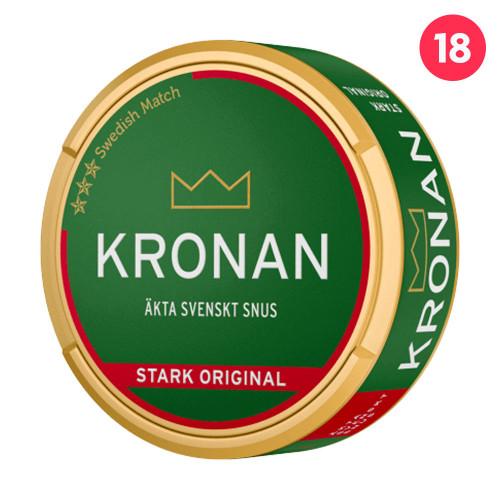 Kronan Stark Vit Portionssnus 10-pack