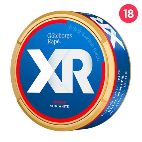 Göteborgs Rapé XRANGE Slim White Strong 10-pack