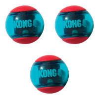 KONG Hundleksak Squeezz Action Red Small 3-p Kong 5 cm